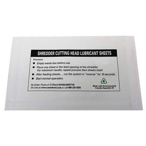 Lubrication Sheets