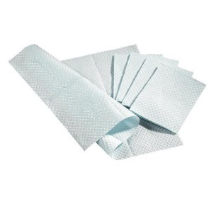 "Medline NON24358B Paper, Pro Towel, Tis/Poly, 3Ply, Blu, 13X18"", CS"