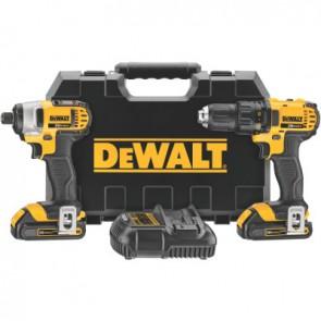 DeWalt DCK280C2 20V MAX Cordless Combo Kits, DCD780 1/2 Drill/Driver; DCF885 1/4 Imp Driver