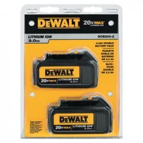 DeWalt DCB200-2 20V MAX* Lithium Ion Batteries, 20 V Lithium Ion