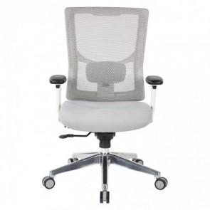 Office Star 95672 ProGrid White Mesh Mid Back Chair, White/Grey, EA