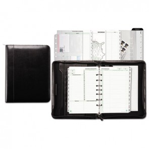 Day-Timer 84441 Aristo Bonded Leather Starter Set, 5 1/2 x 8 1/2, Black